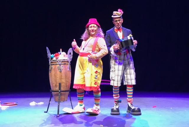 Duo de clowns pour arbre de Noël