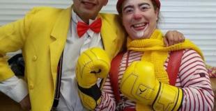 Duo de clowns pour enfants en arbre de Noël (91)