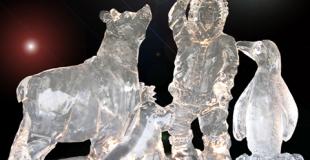 Sculpture sur glace